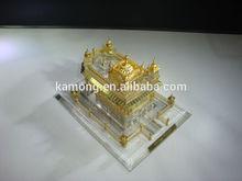 k9 Optical glass crystal building model for souvenir