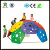 Small Kids play ground equipment/plastic kids playground sets/mobile climbing wall/QX-11071A