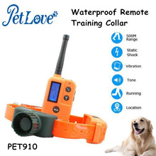 500m Rechargeable Waterproof Remote Training Collar with Vibrating and Shock