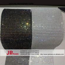 high quality white plastic base cup chain rhinestone crystal