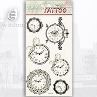 Clocks Flash Temporary Tattoo Sticker