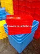 blue plastic box transportation