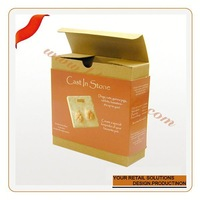 Customize lingerie packaging box fancy flat paper chocolate packaging