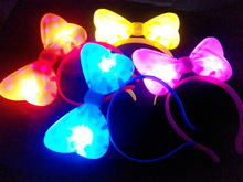 led hair accessories , flashing head bopper , led hair band