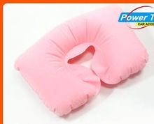 2015 fashion inflatabe neck pillow u-shape musical neck pillow