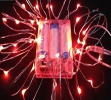 4.5V 2M SMD0603 20leds Red Color Led Christmas Sting Light With battery
