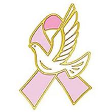 2014 New Paint Breast Cancer Awareness pink ribbon lapel pin