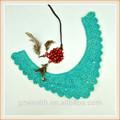 decorativos v verde frisado rendas colarinho bordado padrões para decoração de vestido