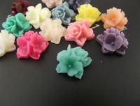 16MM Resin Flower Cluster Cabochons of Assorted Colour HD31