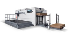 MHC-1300BL Chinese Semi-automatic Flat Die Cutting Machine with front conveyor delivery mechanism