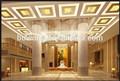 Clásico colgante de cristal de luz de cromo para el vestíbulo, el vestíbulo lámparas de techo