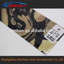 1.52*30m kabarcık hava parlak yılan derisi vinil sticker kullanılan çıkartma