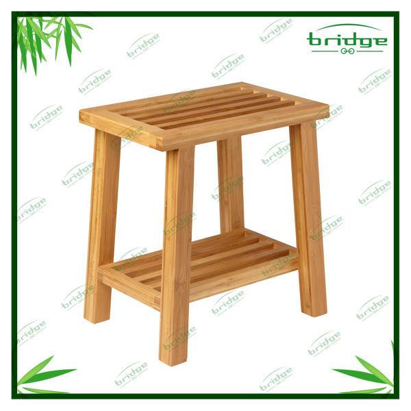 Bambou fendue tabouret de douche salle de bains for Coffre tabouret salle de bain