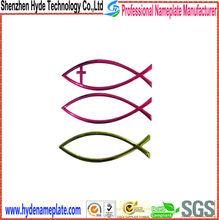custom die casting ABS car emblem, car decoration fish emblem