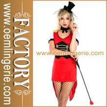 de color rojo sexy traje de circo para las mujeres