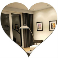 New design heart shaped wall mirrors/silver acrylic mirror