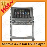 2 din pure Android 4.2 car DVD player for Hyundai IX55 / Veracruze 2006-2011, built in car DVD+GPS+Wifi+Bluetooth+3G
