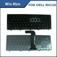 Newest arrival laptop backlit keyboard for dell n4110 keyboard