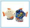 Cyprus ceramic souvenir salt and pepper shaker