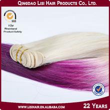 Luxury Fashion Qingdao Factory Two-Tone Color Hair Catalog