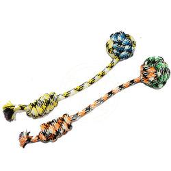 weaving mixed color cotton dog toys