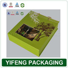 Popular flap custom olive oil packaging cardboard box printing with clear window