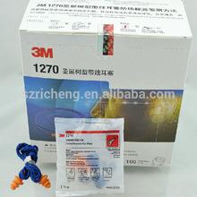 3m earplug 1270 , reusable corded silicone earplug , swimming earplugs