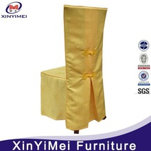 New design flat front polyester cheap chair covers for wedding