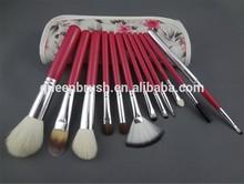 12pcs flower pouch make up brush kit