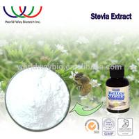 free sample for trial HACCP KOSHER FDA supplier pure sweetener 98% rebaudioside A stevia leaf extract stevia RA98%