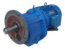 Coaxial helical small reverse induction gearbox