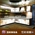 2014 nueva llegada modernos de alta- brillo l- en forma de gabinete de la cocina