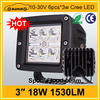 Hotsale automobile 18w cree truck offroad 12v led worklight