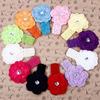 Costom 2014 Kids accessories elastic top baby flower headband