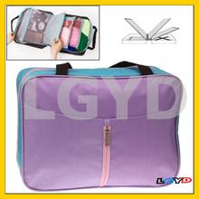 Eiffel Tower Pattern Multifunction Clothing Storage Handbag Layered Travelling Bag (Purple)