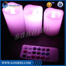 "4"" * 5"" inch Color-change remote led Candle LED set | Colorful ambiance LED Candl, sans fire Candle light"