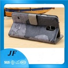 PU Leather Flip Folio Wallet Case Cover for Samsung Galaxy S5