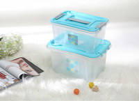 35L/50L Plastic storage box /container with handle and wheels ,stackable boxes
