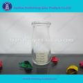 sıcak satış 100ml flint cam puding süt şişesi mantar