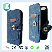 New arrival flip leather belt clip flip wallet case for iphone 5