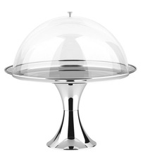 Large clear acrylic display hemisphere for food cake cover dome