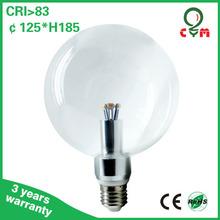 Warm White 2300k G125 Global Bulb Clear or Milky Glass Cover 3w 4w 5w 6w 8w