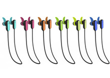 2014 Newest In-ear stereo bluetooth flat cable earphone earbuds headset multi point long operation range