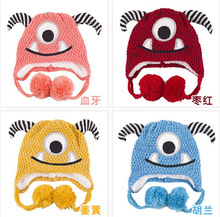 2014 new hot selling cute baby animal cartoon winter hats