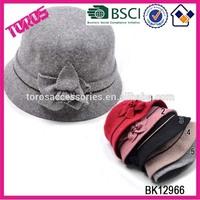 Cloche Women Wool Hat Winter Felt Hat Knitted Wool Hats