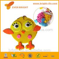 cute yellow bird educational childs' eva sticker toy sets