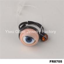 fashion wholesale new design evil eye jewel ring 2015