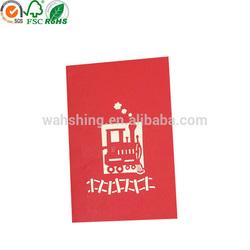 China supplier 3D wedding invitation card made in dongguan