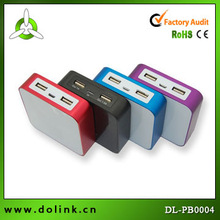 Exquisite Design Cube Style 6600mAh Universal Battery Power Bank With LED Indicator And Saft Protection System