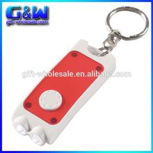 Rectangular Dual LED key ring light with Logo Beamer Key buckle Wholesale Custom personalized cheap keychains maker